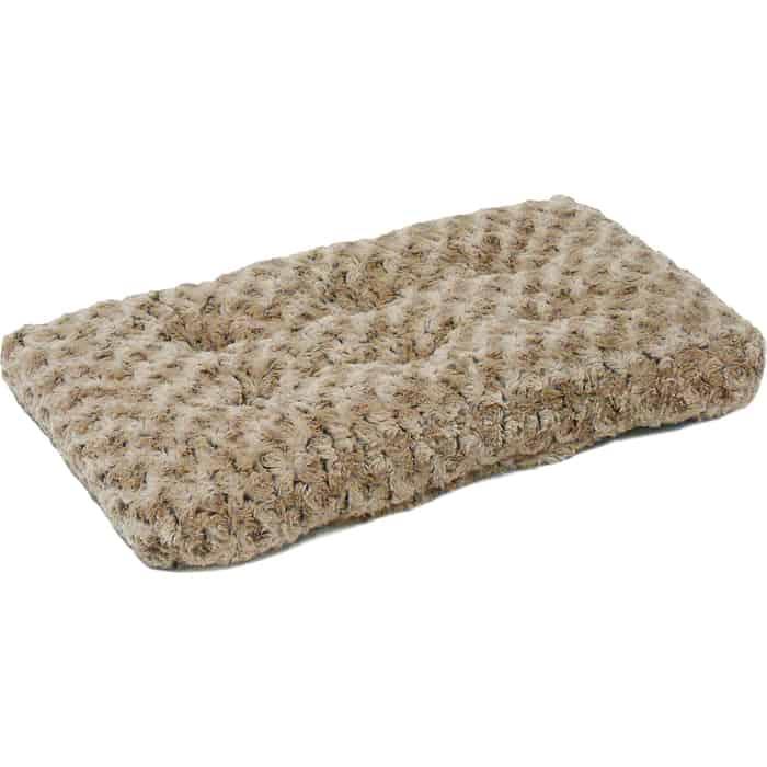 Лежанка Midwest Ombre Mocha Swirl Fur Pet Bed 24 плюшевая с завитками 58х46 см мокко для кошек и собак