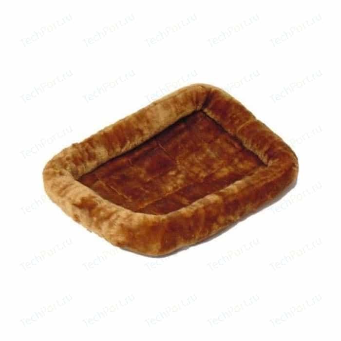Лежанка Midwest Quiet Time Pet Bed - Cinnamon 54 меховая 137х94 см коричневая для собак лежанка midwest quiet time pet bed cinnamon 24 меховая 61х46 см коричневая для кошек и собак