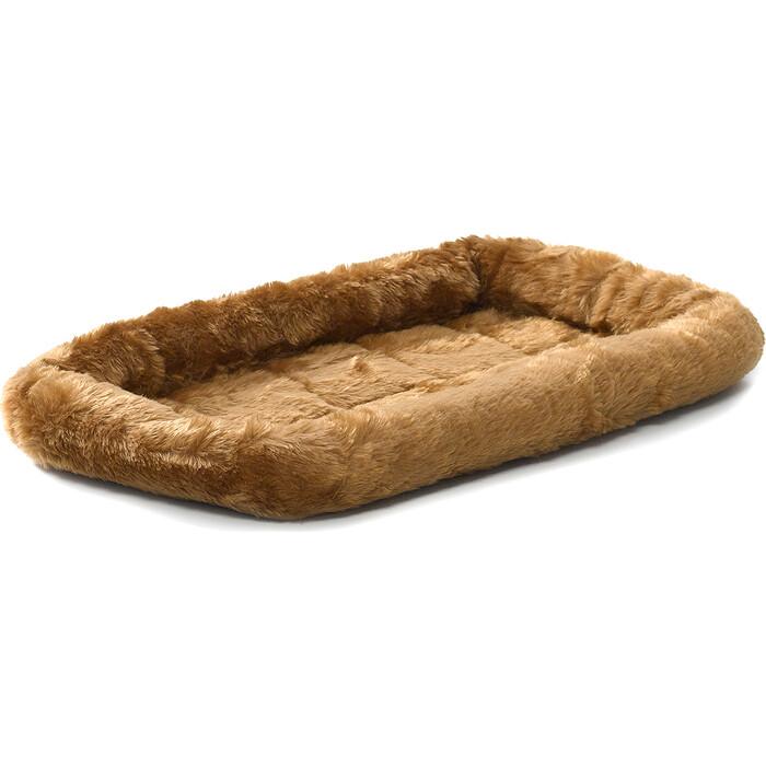 Лежанка Midwest Quiet Time Pet Bed - Cinnamon 22 меховая 56х33 см коричневая для кошек и собак