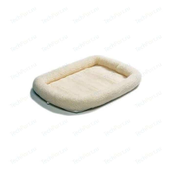 Лежанка Midwest Quiet Time Pet Bed - Fleece 24 флисовая 58х45 см белая для кошек и собак