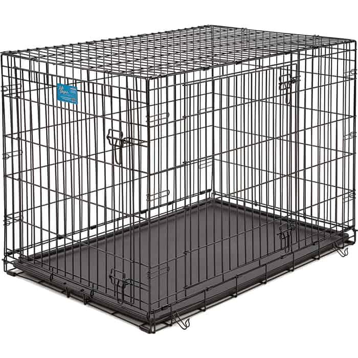 Клетка Midwest Life Stages 42 Double Door Dog Crate 107x71x79h см 2 двери черная для собак