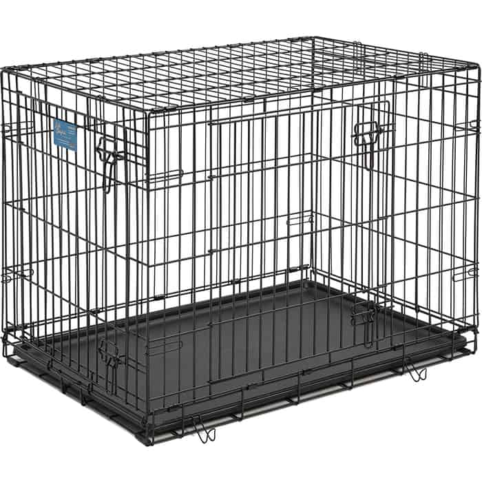 Клетка Midwest Life Stages 36 Double Door Dog Crate 91x61x69h см 2 двери черная для собак