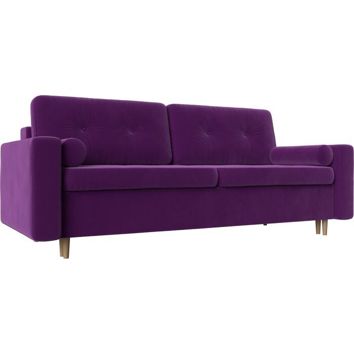 Диван прямой АртМебель Белфаст микровельвет фиолетовый