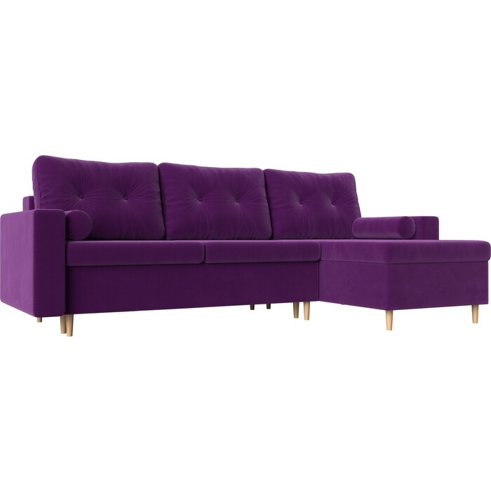 Фото - Угловой диван АртМебель Белфаст микровельвет фиолетовый правый угол угловой диван артмебель белфаст микровельвет фиолетовый левый угол