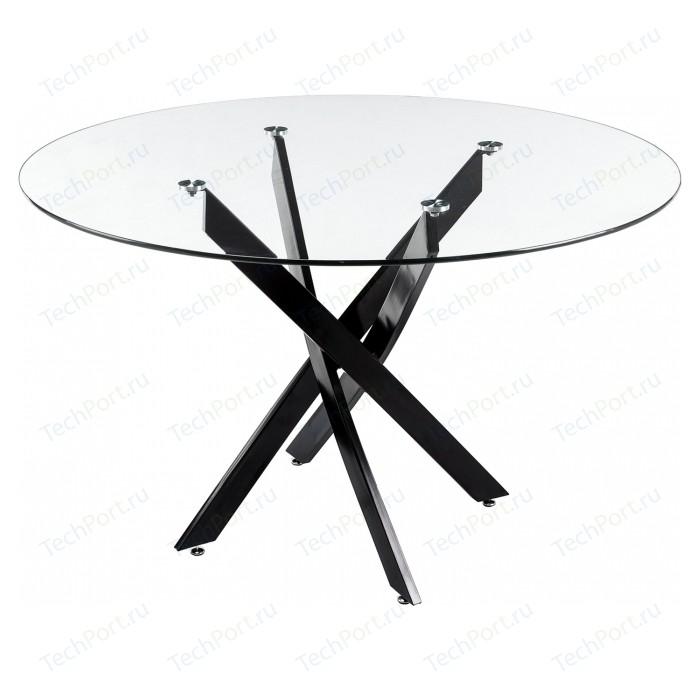Стол стеклянный Woodville Komo Black