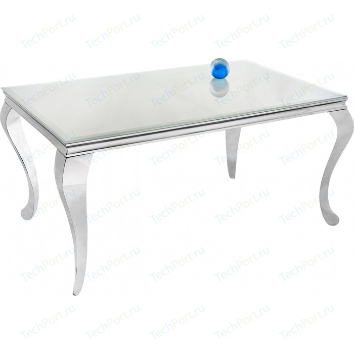 Стол стеклянный Woodville Sondal 160 белый