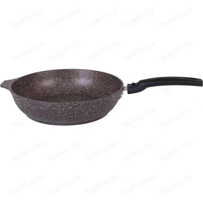 Сковорода со съемной ручкой Kukmara d 22см Кофейный мрамор (смк222а) сковорода d 26 см со съемной ручкой kukmara кофейный мрамор смк263а