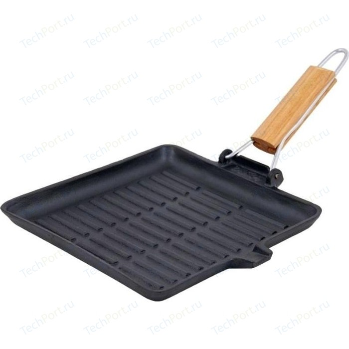 Сковорода-гриль чугун со съемной ручкой Myron cook 27,5х25см Tradition 2 (MC7275)