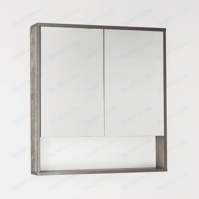 Зеркальный шкаф Style line Экзотик 75 бетон (4650134470901)