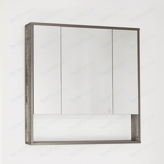 Зеркальный шкаф Style line Экзотик 80 бетон (4650134470918)