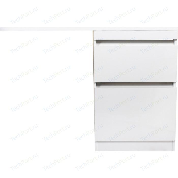 Тумба под раковину Style line Даллас Люкс 58 (120) напольная, стиральную машину, 3 ящика, белая (2000949234298)