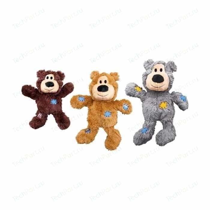 Игрушка KONG WildKnots Bears Small/Medium Dog Мишка 18см с канатом внутри плюш для собак мелких и средних пород