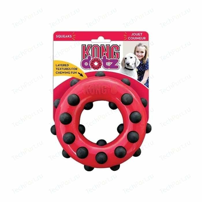 Игрушка KONG Dotz Circle Large Кольцо большое 15см для собак
