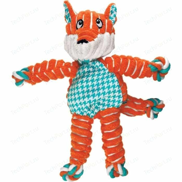 Игрушка KONG Floppy Knots Fox Small/Medium Dog Лиса малая 24х15см для собак мелких и средних пород
