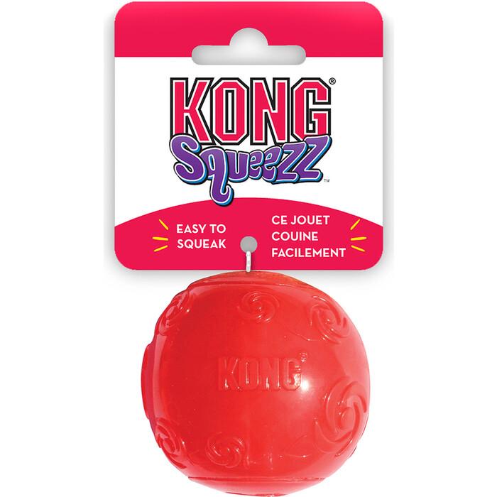 Игрушка KONG Squeezz Ball Extra Large Мячик очень большой 9см резиновый с пищалкой для собак