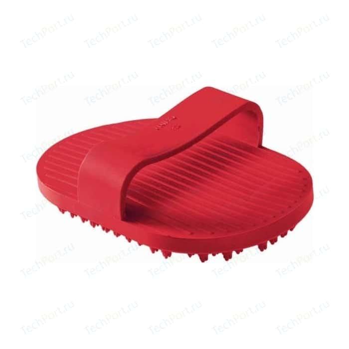 Щетка Hunter Smart Wellness Grooming Comb резиновая грумерская красная для животных