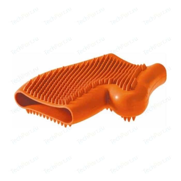 Перчатка Hunter Smart Wellness Glove резиновая для вычесывания шерсти оранжевая животных