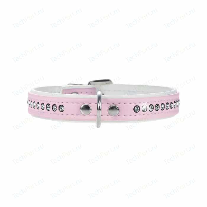 Ошейник Hunter Smart Dog Collar Modern Art Luxus 27/11 nickel (20-23,5 см) кожзам 1 ряд страз розовый для собак