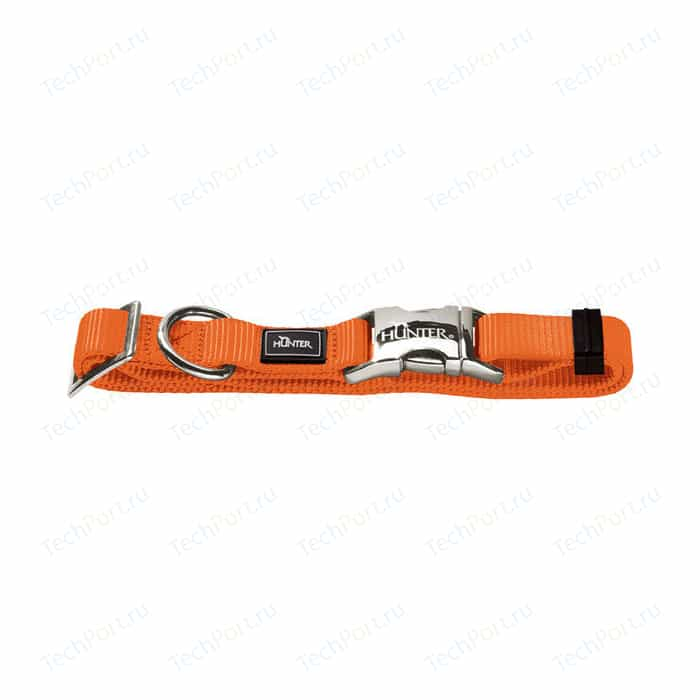 Ошейник Hunter Collar Vario-Basic ALU-Strong S/15 (30-45см) нейлон с металлической застежкой оранжевый для собак