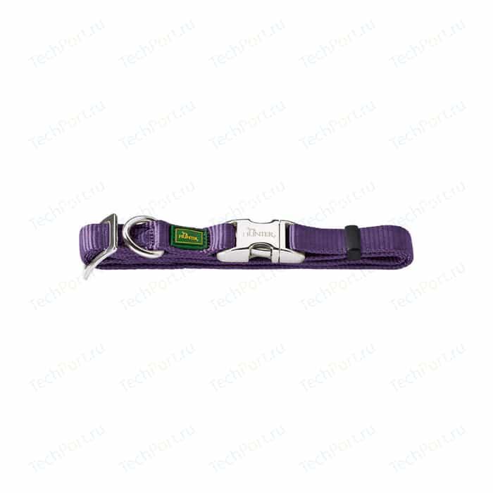 Ошейник Hunter Collar Vario Basic ALU-Strong S/15 (30-45см) нейлон с металлической застежкой фиолетовый для собак