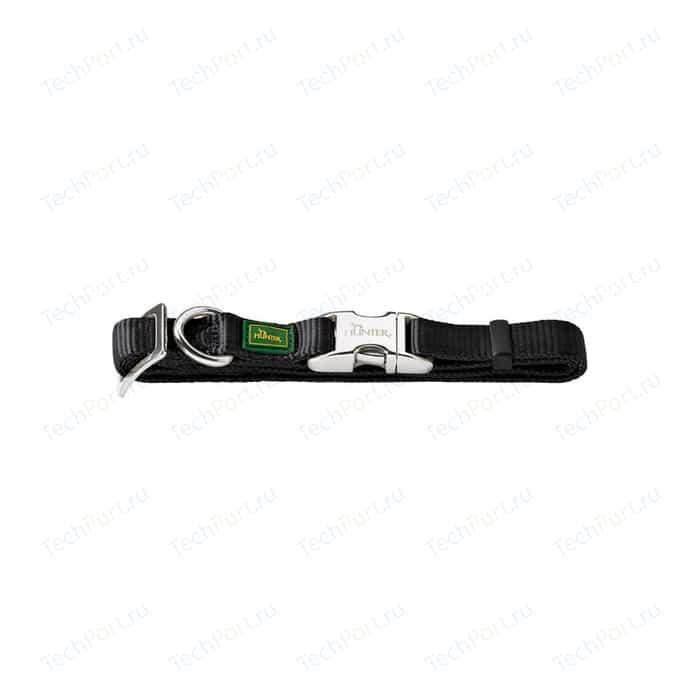 Ошейник Hunter Collar Vario Basic ALU-Strong S/15 (30-45см) нейлон с металлической застежкой черный для собак