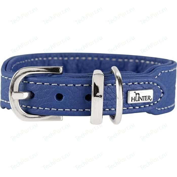Ошейник Hunter Collar Cannes Mini 32 (23-27,5см) натуральная кожа синий для собак