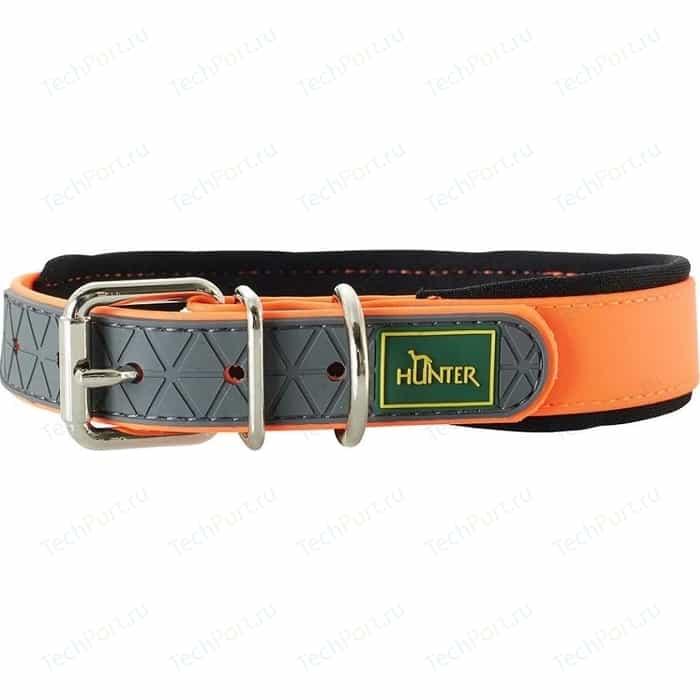 Ошейник Hunter Convenience Comfort 45 neonorange (32-40см) биотановый мягкая горловина оранжевый неон для собак