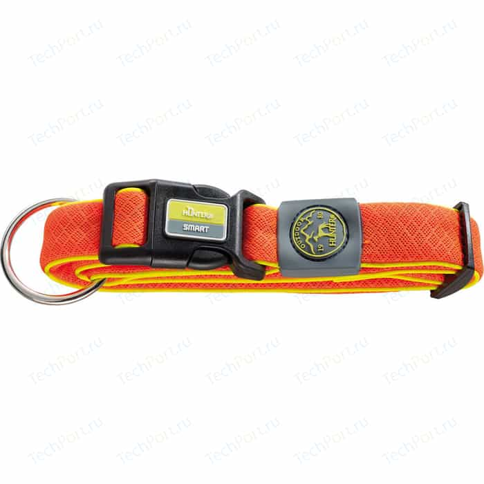 Ошейник Hunter Collar Maui Vario Plus L (42-65cм) сетчатый текстиль оранжевый для собак