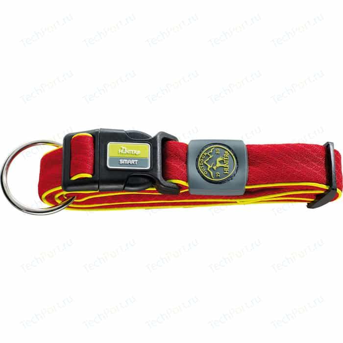 Ошейник Hunter Collar Maui Vario Plus XL (48-75cм) сетчатый текстиль красный для собак