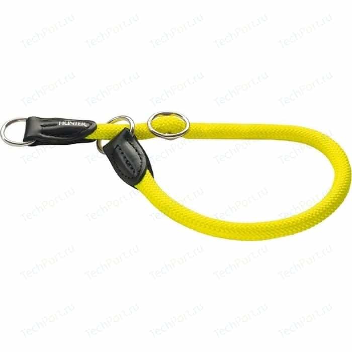 Ошейник-удавка Hunter Collar Training Freestyle Neon 55/10 нейлон желтый неон для собак
