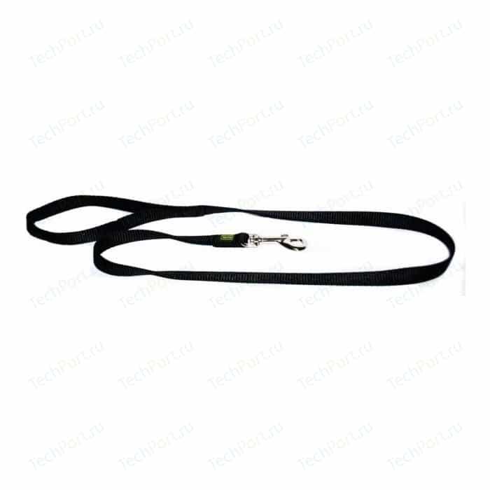 Поводок Hunter Leash 25/100 nickel нейлон черный для собак
