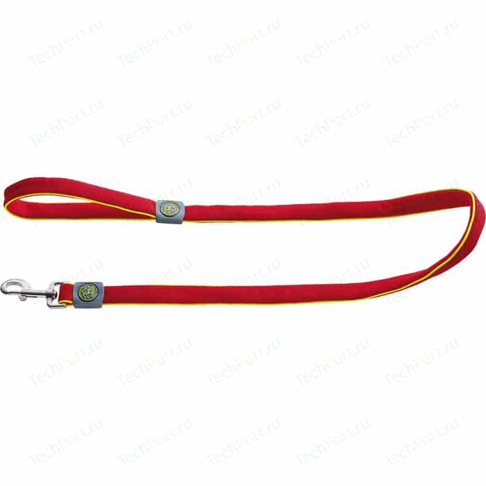 Поводок Hunter Leash Maui 25/120 сетчатый текстиль красный для собак