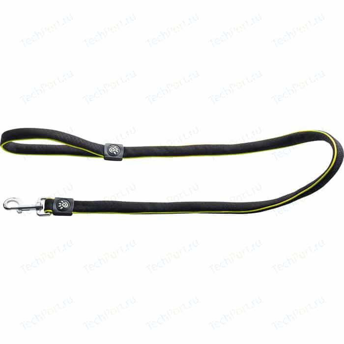 Поводок Hunter Leash Maui 25/120 сетчатый текстиль черный для собак