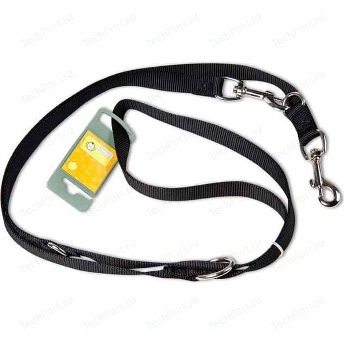 Поводок-перестежка Hunter Smart Dog Training Leash Ecco Sport 20/200 нейлон черный для собак