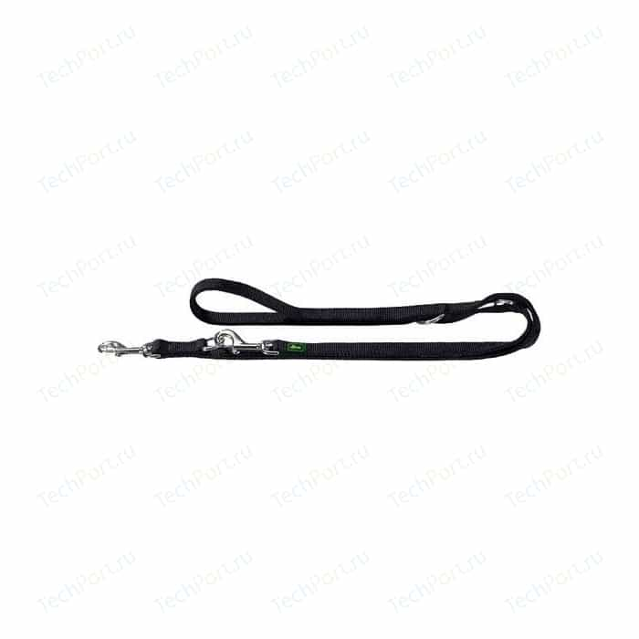 Поводок-перестежка Hunter Leash Training 20/200 нейлон черный для собак