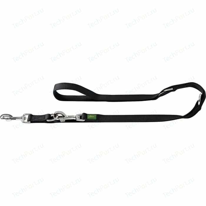 Поводок-перестежка Hunter Leash Extra Long 25/300 нейлон черный для собак