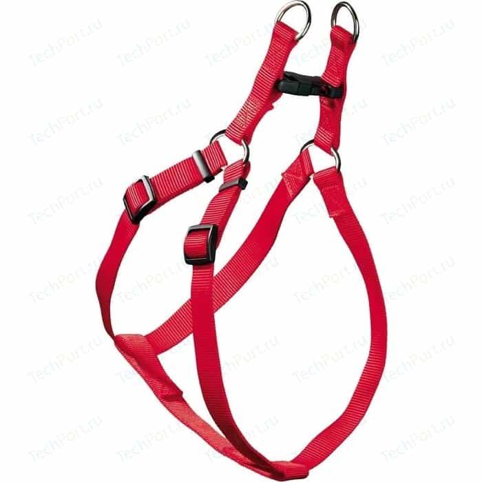 Шлейка Hunter Smart Harness Ecco Sport Quick S/15 (33-45/35-49 см) нейлон красная для собак