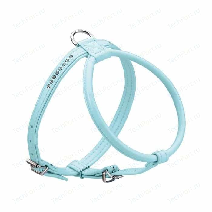 Шлейка Hunter Smart Harness Modern Art R & S Petit Luxus size 40/11 (27/32-38 см) кожзам синяя для собак