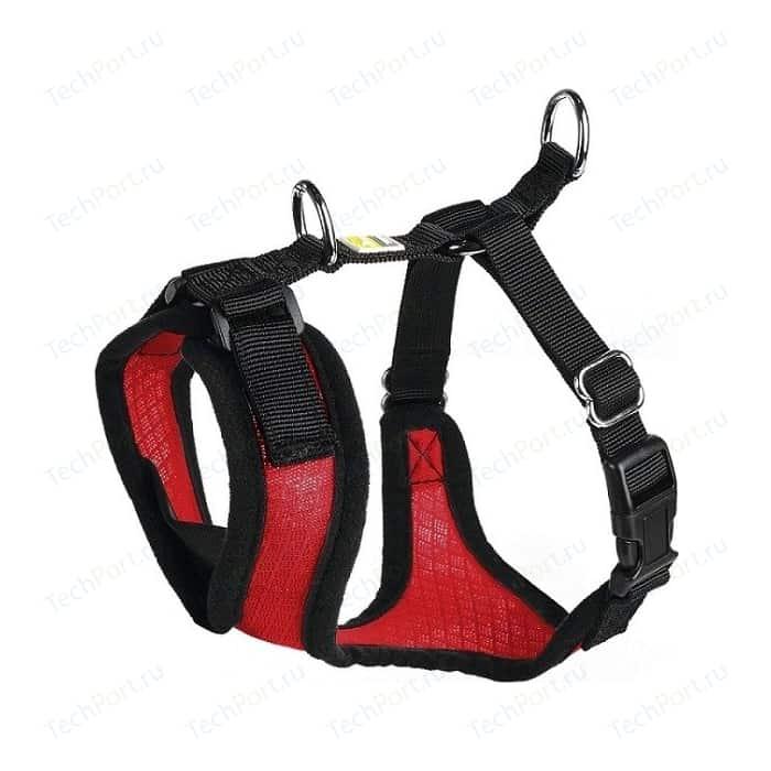 Шлейка Hunter Harness Manoa S (38-47см) нейлон/сетчатый текстиль красная для собак