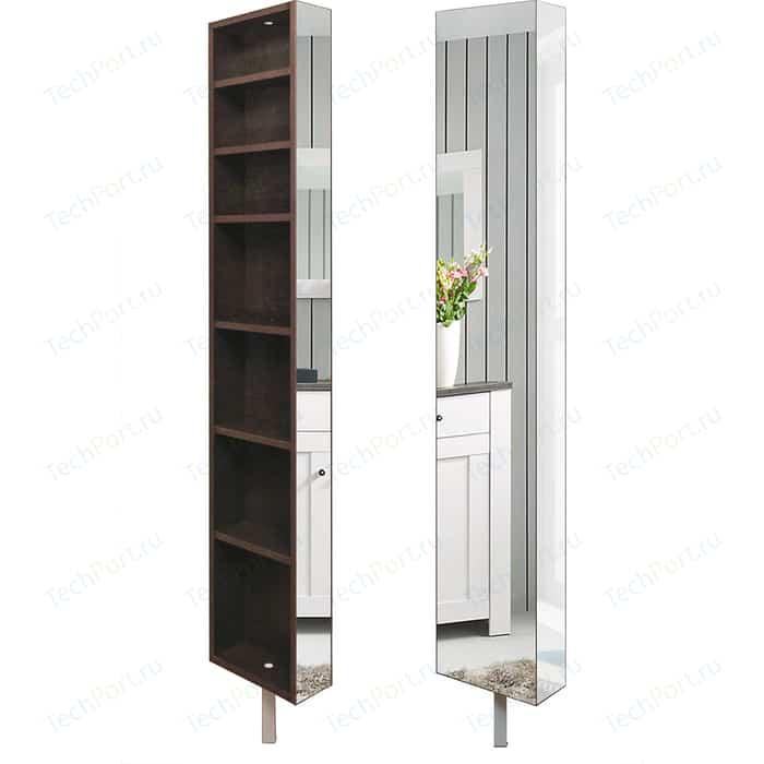 Поворотный зеркальный шкаф Shelf.On Зум Шелф венге