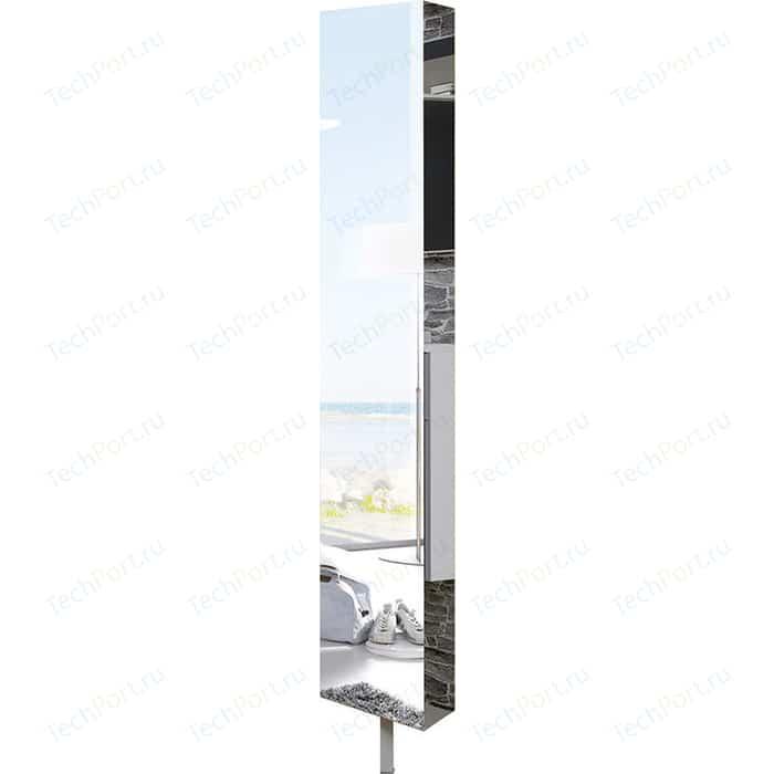 Поворотный зеркальный шкаф Shelf.On Зум Шелф беленый дуб