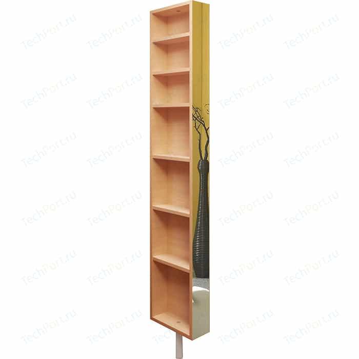 Поворотный зеркальный шкаф Shelf.On Зум Шелф молочный дуб