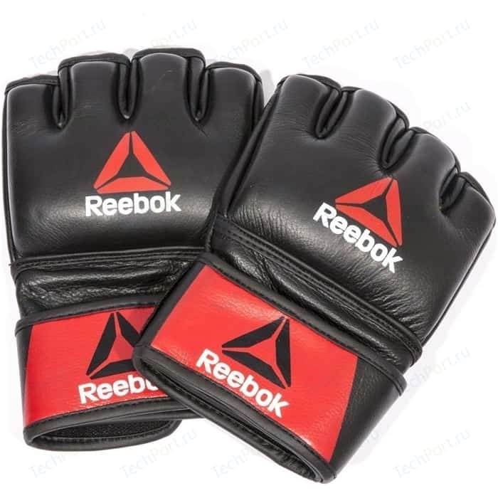 Перчатки Reebok для MMA Combat Leather Glove Large (RSCB-10330RDBK) перчатки для mma reebok glove medium rscb 10320rdbk