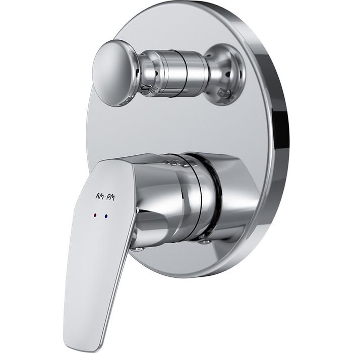 Смеситель для ванны Am.Pm Gem встраиваемый, механизма F100100, хром (F9085000)