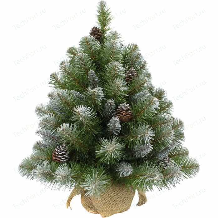 Елка искусственная Triumph Tree Императрица с Шишками в Мешочке Заснеженная 73701 (60 см)