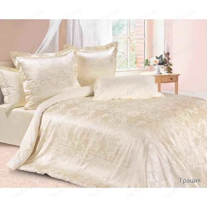 Комплект постельного белья Ecotex Семейный, сатин-жаккард, Грация(КЭДГрация) (4680017867115)
