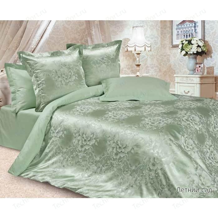 Комплект постельного белья Ecotex Евро, сатин-жаккард, Летний сад(КЭЕЛетний сад) (4680017867184)