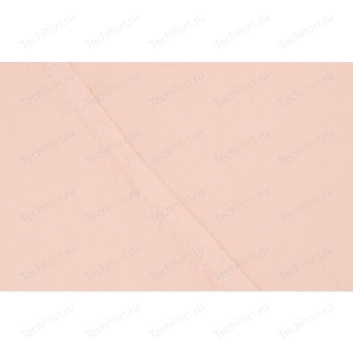 Простыня Ecotex на резинке поплин 200х200х20 персиковая (4607132578429)