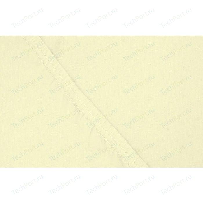 цена Простыня Ecotex на резинке трикотажная 90х200х20 нежно-желтая (4670016951885) онлайн в 2017 году