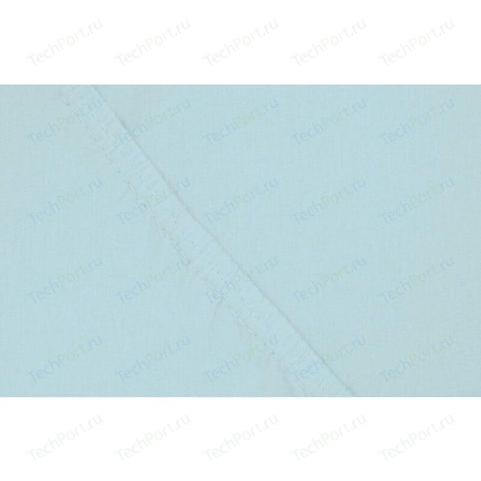 Простыня Ecotex на резинке трикотажная 180х200х20 голубая (4670016952165)